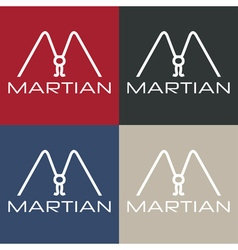 Martian monogram vector