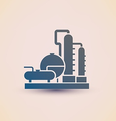 Petrochemical plant symbol refinery oil distillati vector
