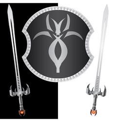 Fantasy shield and swordssecond variant vector
