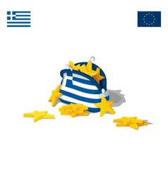 The economic crisis in greece vector
