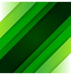 Abstract background with green paper layers vector