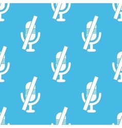 Blue muted microphone pattern vector