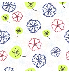 Naive floral background vector
