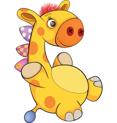 Toy giraffe cartoon vector