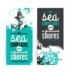 Set of travel grunge banners vector