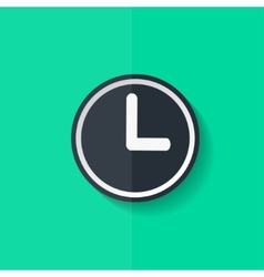 Clock web icon button time symbol flat design vector