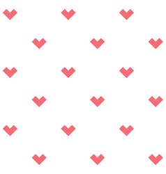 Romance seamless pattern with stylized hearts vector