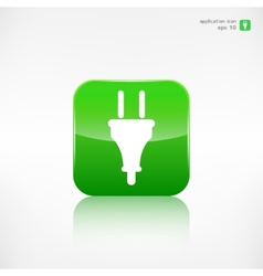 Electric plug icon electric fork symbol vector