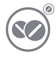 Medical pills icon vector
