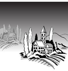 House mountains vector