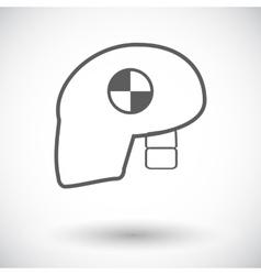 Icon dummy head for crash test vector