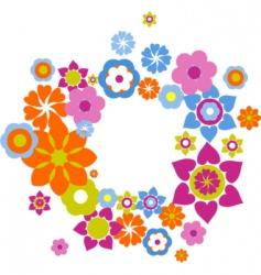 Retro flowers background vector
