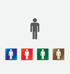 People pictogram icons vector