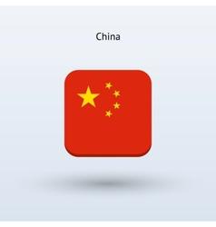 China flag icon vector