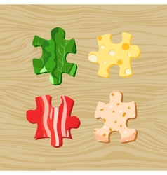 Food puzzles vector