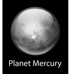 Planet mercury vector