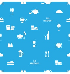Restaurant and pub seamless pattern eps10 vector