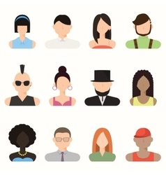 People avatar male and female human faces vector
