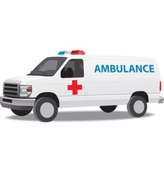 Ambulance van vector