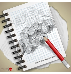Hand drawn various elements vector