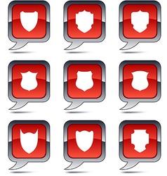 Shield balloon icons vector