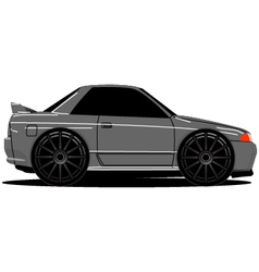 Nissan skyline r32 side 01b vector