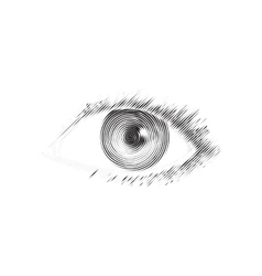 Human eye engraved vector