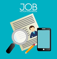 Job design over blue background vector