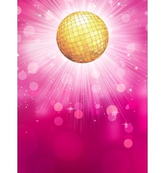 Abstract golden with disco ball eps 10 vector