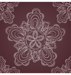 Seamless lace pattern fantasy flowers vector