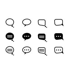 Black and line speech bubble vector