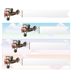 Ww1 aeroplane toys vickers banner vector