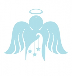 Angel with christmas ornament vector