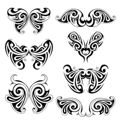 Wing shapes vector