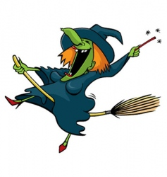 Crazy witch vector