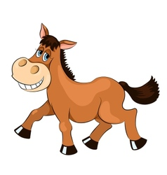 Brown mad horse vector