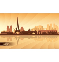 Paris city skyline silhouette background vector