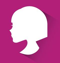 Profile woman design vector