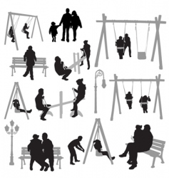 Park silhouettes vector