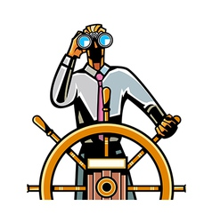 Close-up of man holding steering wheel vector