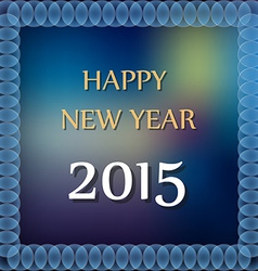 Happy new year 2015 on abstrac color background vector