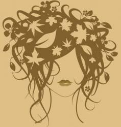 Fashion girl autumn vector