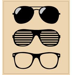 Set of sunglasses background vector
