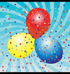 Balloons celebration vector