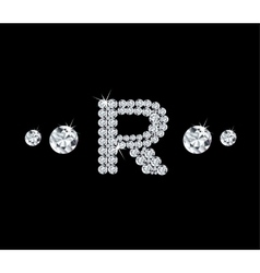 Diamond alphabetic letter r vector