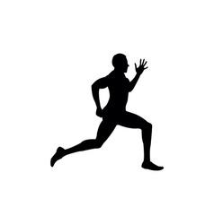 Running sprint man vector
