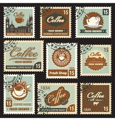 Coffee postal vector