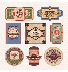 Set of vintage style frames vector