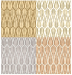 Seamless gold foliage pattern vector