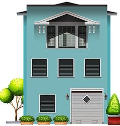 A big blue commercial property vector